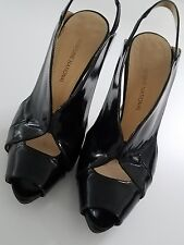 costume national black patent shoes size 38