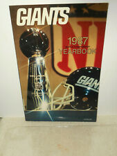 NY GIANTS 1987 Official Yearbook Super Bowl XXI World Championship Team Souvenir