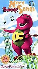 Barney: More Barney Songs (VHS, 1999) Never Seen on TV- Tested w Sleeve artwork