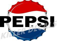 """(PC-207) 12"""" 60'S PEPSI  CAP COOLER POP soda coca cola machine decal"""