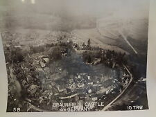 1946? Post WWII Aerial Photograph ORIGINAL Braunfels Castle Germany 5B
