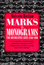 Marks and Monograms 1880 to 1960 Malcolm Haslam Art Nouveau Art Deco Modernism