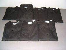 Lot of 7 Womens Size Large Black Long Sleeve Button Down Shirts - NEW!