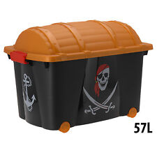 Toy Box Storage Pirate Chest Large Kids Childrens Organiser Container Wheeled