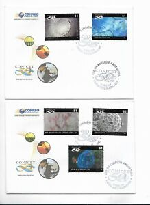 ARGENTINA 2008 CONICET SCIENCE INVESTIGATION 5 VALUES ON FIRST DAY COVER