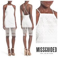 MISSGUIDED  SEXY CROCHET LACE OVERLAY MIDI DRESS   Sz 2  UK 6  NEW  NORDSTROM
