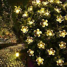 Led Solarlicht Solar Lichterkette Kirschblüten Solar Batterie Beleuchtung Außen