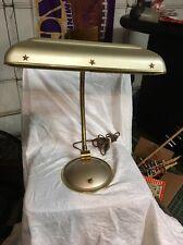 Mid Century gold metal stars adjustable gooseneck portable desk lamp dual bulb