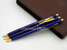 Jinhao Classic Classic design Blue Twist golden Trim Ballpoint Pen