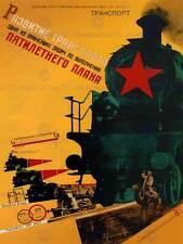 Propaganda política comunismo Ferrocarril plan de cinco años de Unión Soviética cartel 1831PY