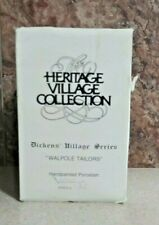 Dept. 56 Heritage Dickens' Village Series 1988 Walpole Tailors #5926-9