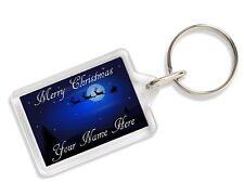Personalised Any Name Merry Christmas Keyring Any Name AK310