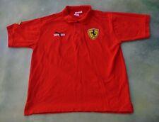 Puma Ferrari Red Polo Shirt Size L ____MADE IN USA.