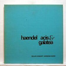 ALFRED DELLER CONSORT - HAENDEL acis & galatea HARMONIA MUNDI 2xLPs box EX++