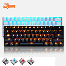 UK RK61 Wired / Wireless Bluetooth Backlit LED Dual Mode Backlight Game Keyboard