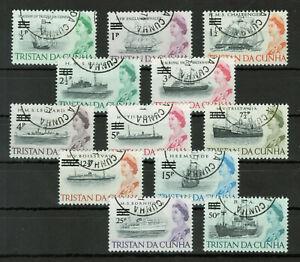 Tristan da Cunha Sc#114-152 1965 Queen Elizabeth and Ships Used #4824