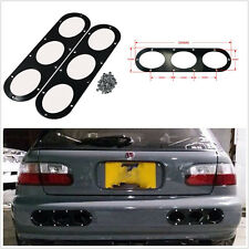 2in1 High Quality Metal Car Rear Bumper Race Air Diversion Diffuser Panel Black