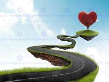 PAINTING ILLUSTRATION ABSTRACT HIGHWAY LOVE ISLAND ART PRINT POSTER MP3020B