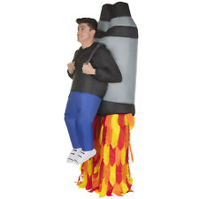 Inflatable Jetpack Ride On Costume Adult Funny Rocket Fancy Dress Stag Party
