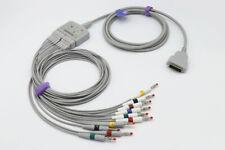 Compatible GE-Marquette EKG Trunk cable 22341809 + EKG Leadwire 38401817 AHA