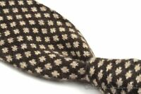 EIDOS Napoli Brown Geometric 100% CASHMERE Mens Luxury Tie NWT - 2.75""
