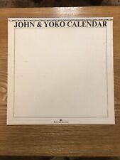 """(THE BEATLES) """"JOHN & YOKO"""" 1970 CALENDAR PRODUCED BY JOHN AND YOKO"""