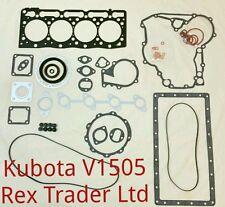 KUBOTA v1505 GUARNIZIONE KIT COMPLETO (superiore e inferiore) con elementi in lamiera GUARNIZIONE