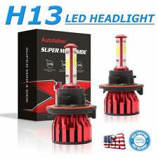 H13 9008 CREE LED Headlight Bulbs Conversion Kit High Low Beam 6000K White 400W