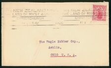 Mayfairstamps New Zealand 1926 Land of Many Wonders to US Slogan Cancel Cover ww