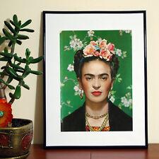 Frida Kahlo Headshot Self Portrait A4 FREE Shipping Borderless Quality Poster