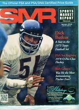 New listing JANUARY 2015 DICK BUTKUS COVER SMR PSA SPORTS MARKET REPORT PRICE GUIDE  MINT