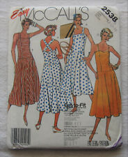 Vintage Dress Sewing Pattern*McCalls 2538*Sz 12-16*Uncut/Ff*sundress*b ack button