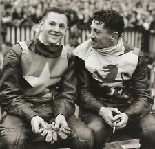 RONNIE MOORE & BRUCE ABERNETHY - SPEEDWAY 10X8 PHOTO (1)