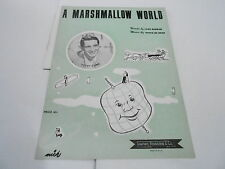 1950 vintage NOS sheet music - MARSHMALLOW WORLD - PERRY COMO