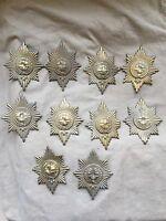 Original Victorian/Edwardian British Coldstream Guards Brass Valise Pouch Badge