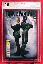 BLACK PANTHER #1 PGX 9.8 NM/MT Near Mint - Horn Variant signed STAN LEE +CGC!!!