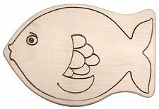 Frühstücksbrett Frühstücksbrettchen Kinderbrettchen in Tierform Motiv: Fisch