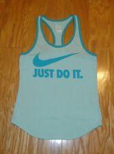 Nike Dri Fit Just Do It Tank Top Size S Women's Mint Green Racerback Athletic