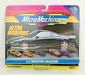Micro Machines Ultra Moderns #3 Prototypes Collection by Galoob NIP 1993