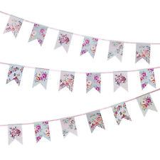 Abbastanza floreale stile Vintage partito Bunting romantico Bandiera Striscione Ghirlanda decorati
