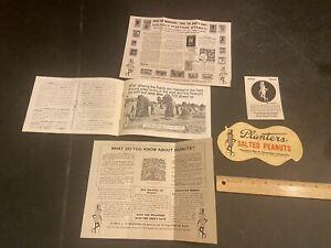 Vintage Planters Peanuts Advertising Brochure