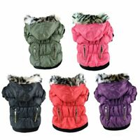 Pet Small Dog Jacket Winter Warm Vest Zipper Coat Puppy Hoodie Padded Apparel