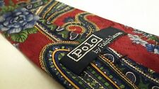 Polo Ralph Lauren Red Paisley Silk Tie Classic 3.5 - 58 inches Men