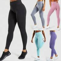 Women's Seamless Yoga Pants Leggings Push Up Sports Gym Fitness Stretch Trousers