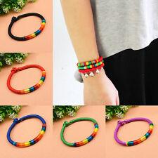 1Pc Colorful Friendship Bracelets Woven Braided Hippie Boho Surf Bracelet Anklet
