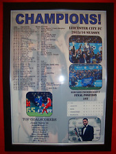 Leicester City 2016 Premier League champions - framed print
