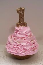 First Birthday Fake Cupcake, Smash Cake Photo Props, Pink and Gold Cupcake