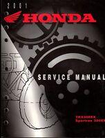 2001 HONDA ATV TRX300EX & SPORTRAX 300EX SERVICE MANUAL NICE  (633)