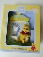 "Vintage Disney Winnie the Pooh ""MY FIRST STEP"" Foot print Frame New Free Ship"
