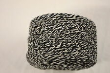 100g balls 86% Wool 14% Nylon - 4ply Knitting Yarn - Black and White Twist